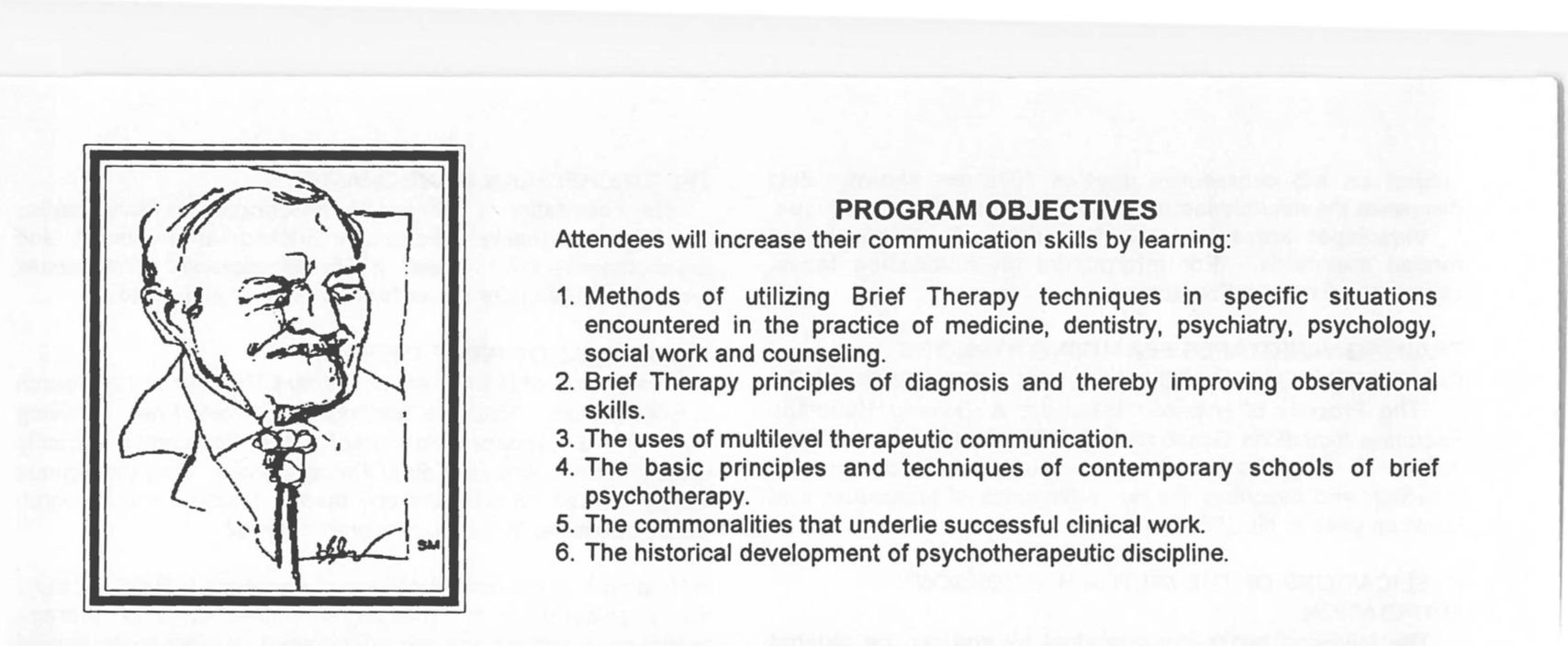 brief therapy program objectives