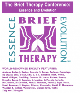 history of brief therapy second conference image